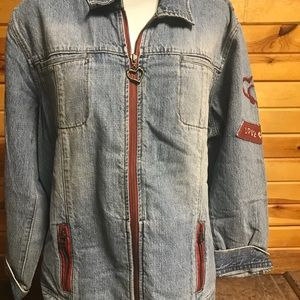 Chico's blue jean Jacket